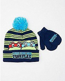 TMNT Baby Hat and Mittens Set