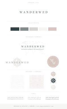 Wanderwed | August + White Branding & Website Design | Brand Board