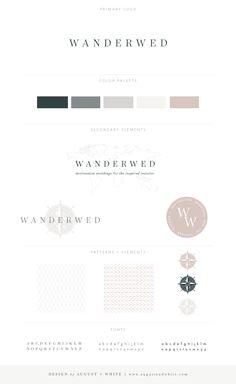 Wanderwed | August + White Branding & Website Design | Brand Board