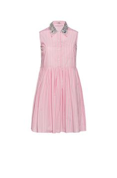 c63ad77bbdd MIU MIU Striped cotton dress.  miumiu  cloth