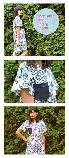 zoey dress free sewing pattern