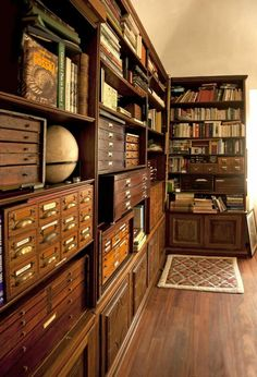 Home library design - 60 awesome ideas vintage library – Home library design Library Room, Dream Library, Library Cabinet, Library Page, Home Library Design, House Design, Library Ideas, Home Library Decor, Studio Design