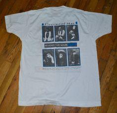 RaRe *1990 FLEETWOOD MAC* vtg rock concert tour t-shirt (XL) 80's Stevie Nicks | eBay