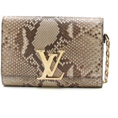9f7fa44b16f Get the trendiest Clutch of the season! The Louis Vuitton Beige Python Chain  Louise Clutch Bag is a top 10 member favorite on Tradesy.