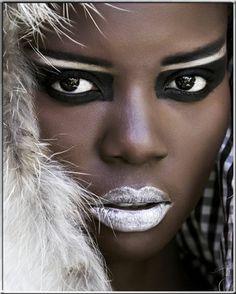 Tribal Makeup Inspiration: The Sequel Makeup Fx, Beauty Makeup, Hair Makeup, Queen Makeup, Anna Makeup, Makeup Style, Makeup Tips, Black Is Beautiful, Beautiful Eyes