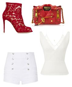 """""""IDEK"""" by mag11rich on Polyvore featuring Roland Mouret, Pierre Balmain, Moschino and Dolce&Gabbana"""