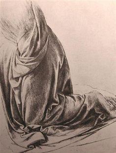 LEONARDO DA VINCI — Drawing Of Drapery  1500   Leonardo da Vinci