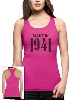 Made In 1941 75Th Birthday Gift Idea Retro Cool Racerback Tank Top Novelty
