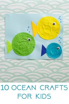 10 Ocean Crafts and Activities for Kids - The Chirping Moms, easy summer craft, easy summer activities, summer toddler activities, summer preschool crafts, summer camp crafts