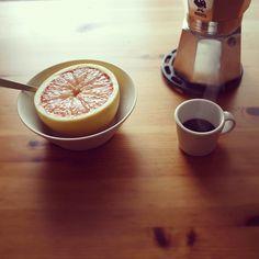 Coffee: love the moka pot and tazzina
