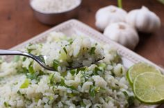 Cilantro Lime Rice Infused With Garlic - The Kitchen Snob