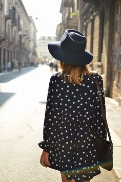 love the navy and poke a dots and the hat....all of it