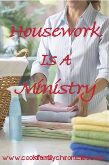 Unique way of looking at housework and being a homemaker.