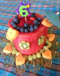 Birthday Cake made from fresh fruit!