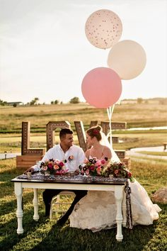 3Ft Balloons make a big impact for your Wedding! Confetti and Standard