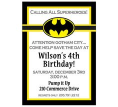 Batman Invites