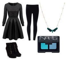 """""""Winter Black"""" by niki-lear on Polyvore featuring NARS Cosmetics"""