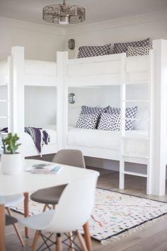 coastal modern kids room bunk beds More