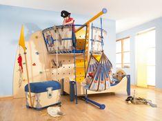 Kinderzimmer Möbel Ideen - Schiff-Bett