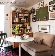 Home of Devin Kirk VP of merchandising for Jayson Home as seen in Elle Decor_camel sofa