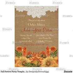 Fall Festive Party Template