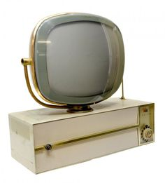 Rare MID CENTURY Modern 50s Atomic TV Set 1956 Emerson Wood Furniture ...
