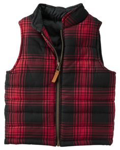 Flannel Puffer Vest from Carters.com. Shop clothing & accessories from a trusted name in kids, toddlers, and baby clothes.