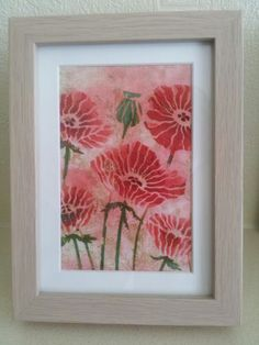 A small picture using a Claritystamp stencil with embossing paste.