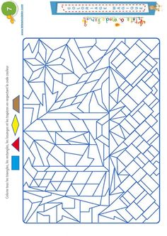 Coloriage magique 7 - les trapèzes et autres formes - Tête à modeler Triangle Math, Color By Number Printable, Senior Activities, Abc For Kids, Art Worksheets, Color By Numbers, Hidden Pictures, Diy Arts And Crafts, Math Games