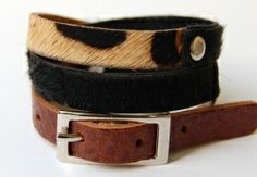 armband combinatie bont zwart