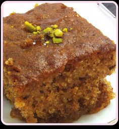 This tasty walnut honey cake recipe is perfect with a cup of coffee or fresh pot of tea! Walnut Honey Cake Recipe from Grandmothers Kitchen. Greek Sweets, Greek Desserts, Just Desserts, Delicious Desserts, Sweet Recipes, Cake Recipes, Cupcakes, Cupcake Cakes, Greek Cake