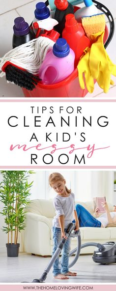 Practical tips and suggestions on tackling your child's messy room from a house cleaning professional.
