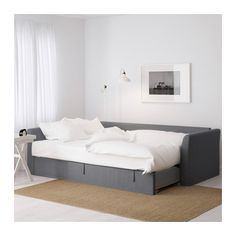 HOLMSUND Sofa bed with chaise - Nordvalla medium gray - IKEA