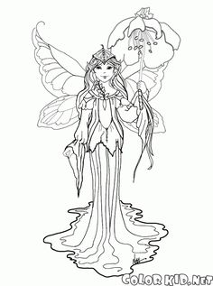 The Free Coloring Pages For Girls Will Introduce Children To Elves And