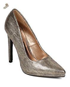 6f37fcf30 Qupid CF64 Women Metallic Lizard Skin Leatherette Pointy Toe Stiletto Pump  - Champagne Metallic (Size: 7.0) - Qupid pumps for women (*Amazon  Partner-Link)