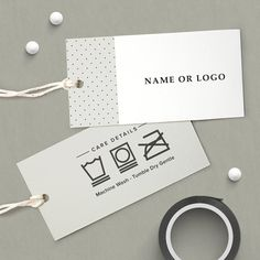Care Instructions, Custom Care Instructions, Clothing hang tags, laundry tags, care tags, care labels, custom textile label, fabric tags