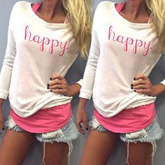 New Fashion Women Ladies Vest Long Sleeve Shirt Blouse Summer Casual Loose Tops #Unbranded #Blouse #Casual