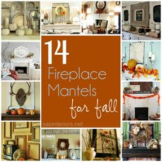 14 Festive Fireplace Mantels for Fall holidays-fall-thanksgiving Fall Home Decor, Autumn Home, Fall Crafts, Decor Crafts, Craft Decorations, Holiday Crafts, Thanksgiving Decorations, Seasonal Decor, Fireplace Mantels