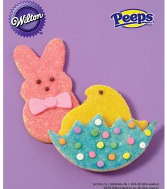 PEEPS Sugar-Sprinkled Bunny and Chick Cookies from @Wilton Cake Decorating Cake Decorating #livelovebake