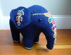 Painted toy elephant by crafty green rabbit