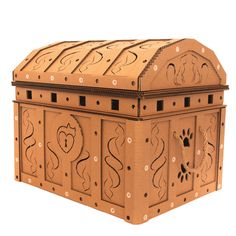 Treasure Chest Cardboard Cat House is sustainable cat cave, suitable for your home interior, build from cardboard - the favorite material of your cat. Cardboard Furniture, Cat Furniture, Cardboard Cat House, Cat Cave, Unique Cats, Cat Condo, Animal House, Treasure Chest, Hope Chest