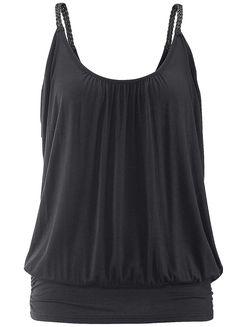 Black Loose Vest Top by LASCANA