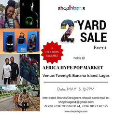 Morning IG!!  Counting down to our 2nd #ShopinlagosYardSale coming up in May at the Africa MarketPlace Event... Interested participants should check our bio or DM for further details  #shopinlagos #buynigerian #MadeinNigeria #AfricaMarketPlace