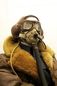 helmet, goggles, gas mask, jacket