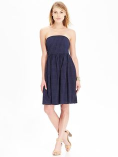 Womens Eyelet Strapless Dress, Old Navy, also available in white $24.97