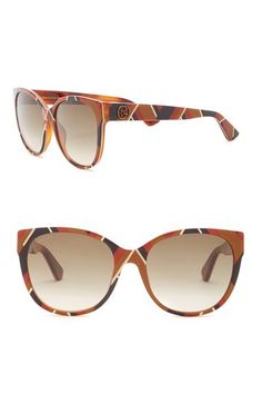 8e9a1bb0839 Image of GUCCI 56mm Cat Eye Sunglasses Four Eyes