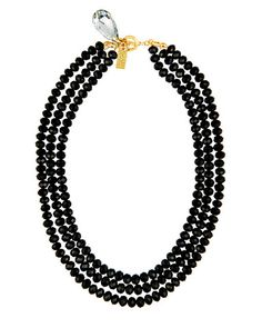 BEAUTIFUL IN BLACK STATEMENT NECKLACE