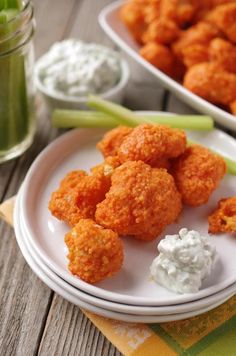 Best buffalo cauliflower recipe I've tried so far. Not that healthy, but probably better than the real thing plus it's delicious! from The Boston Globe