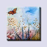 Decoration Art Butterfly Painting on Canvas