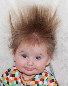 Spiked hair : distinctive styling; so electrifying.